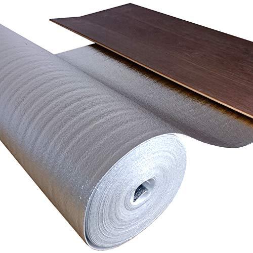 Trittschalldämmung ALU [50 m² - 2 Rolle] - Perfekt für Laminat und Parkettböden