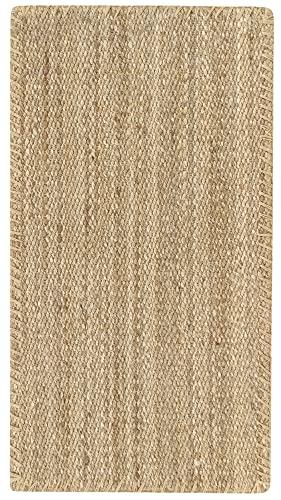 Jute Teppich - Granada Teppich 100% Handgewebt - Natürlich (110x60cm)