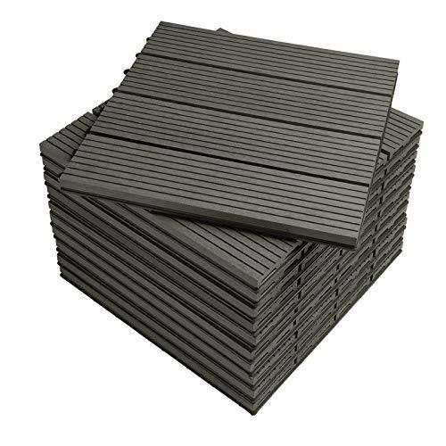 WPC Terrassendielen mit klicksystem Grau (11 Stück / 1 m²)