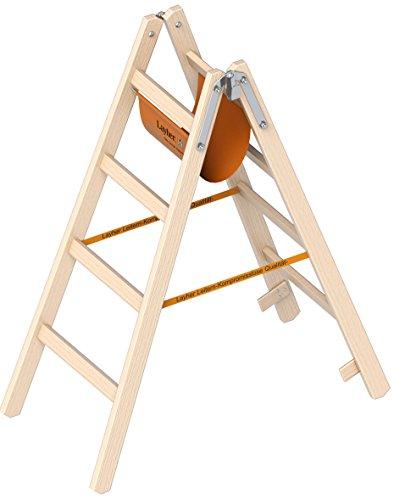 Layher Holzleiter  nach Ö-Norm 1053 4 Sprossen